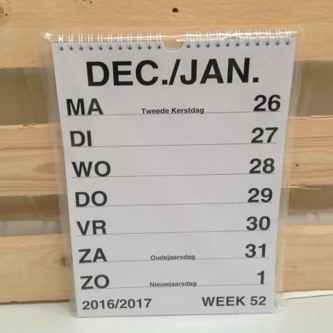 grootletter weekkalender 2017
