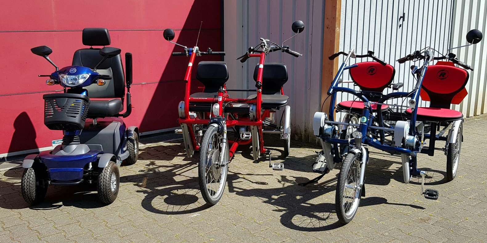 Duofiets driewielfiets scootmobiel